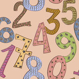 Funny numbers seamless pattern Stock Photo