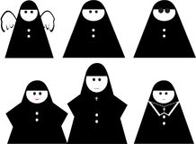 Funny nun Stock Images