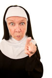 Funny Nun Royalty Free Stock Image