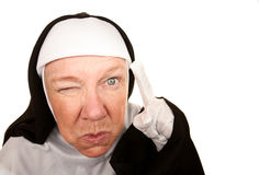 Funny Nun stock image