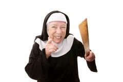 Funny Nun royalty free stock photos