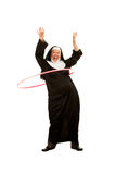 Funny Nun with Toy Plastic Hip Stock Photos