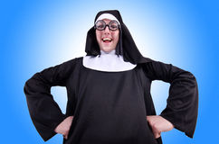 Funny nun Stock Photography