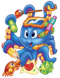 Funny octopus Stock Photos
