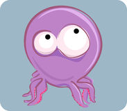 Funny octopus. Vector illustration of funny octopus Royalty Free Stock Images