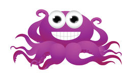 Funny octopus cartoon Royalty Free Stock Images