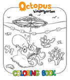 Funny octopus coloring book Royalty Free Stock Photography