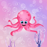 Funny octopus Royalty Free Stock Image