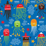 Funny octopuses Royalty Free Stock Images
