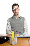 Funny Office Worker Royalty Free Stock Photos