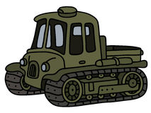 Funny old artillery tractor Royalty Free Stock Image