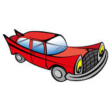 Funny old car cartoon Royalty Free Stock Photos