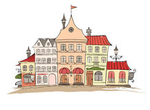 The Funny Old City of Europe. Illustration -- Funny Old City of Europe royalty free illustration
