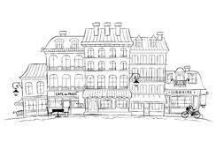 The Funny Old City -- Paris. Graphic vector illustration -- The Funny Old City -- Paris royalty free illustration