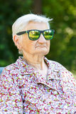 Funny old lady Stock Photos