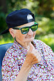 Funny old lady Royalty Free Stock Photography