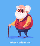 Funny old man character. Isolated vector illustration. Stock Images