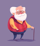 Funny old man character.  vector Stock Images