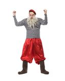 Funny old man in red pants Royalty Free Stock Image