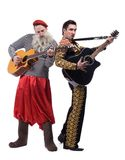Funny old man and toreador Royalty Free Stock Image