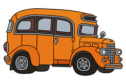 Funny old orange bus Royalty Free Stock Image