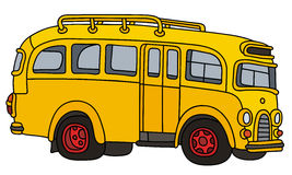 Funny old school bus Stock Images