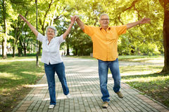 Funny old senior couple Stock Images