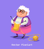 Funny old woman character.  vector illustration. Stock Photography