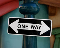 Funny one way sign Royalty Free Stock Photo
