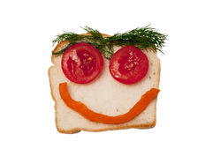 Funny open sandwich Royalty Free Stock Image