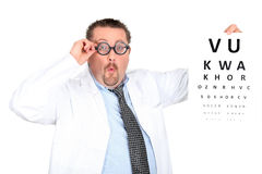 Funny ophthalmologist Royalty Free Stock Photos