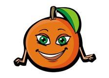 Funny orange. Funny cartoon orange on white backfround Royalty Free Illustration