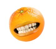 Funny orange Stock Photo