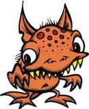 Funny orange creature Royalty Free Stock Photography