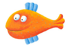 Funny orange fish Stock Image