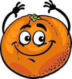 Funny orange fruit cartoon illustration Stock Images