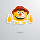 Funny Orange Man. With Hat Made from Paper, Icon, Symbol Stock Images