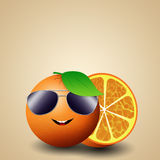 Funny orange for summer Royalty Free Stock Image