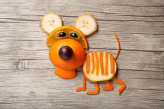 Funny orange tiger Stock Photography