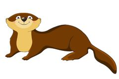 Funny otter Stock Image