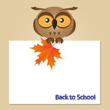 Funny owl card Stock Images