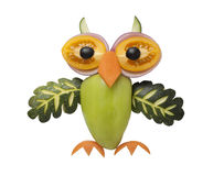 Funny owl made of vegetables royalty free stock photo