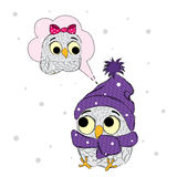 Funny owl vector . Cute owl painted by hand. Colorful owl . Vector bird. Stock Images