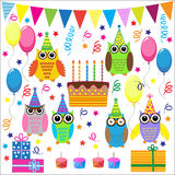 Funny owls Stock Photos