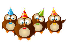 Funny owls Stock Image