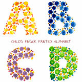 Funny paint alphabet. Colorful funny paint alphabet - 4 bloomers set Stock Images