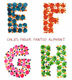 Funny paint alphabet. Colorful funny paint alphabet e,f,g,h letters Royalty Free Stock Image