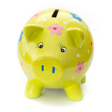 Funny painted ceramic piggy bank Royalty Free Stock Photography