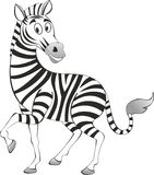 funny painted zebra vector Stock Images