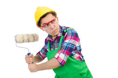 Funny painter Stock Photo